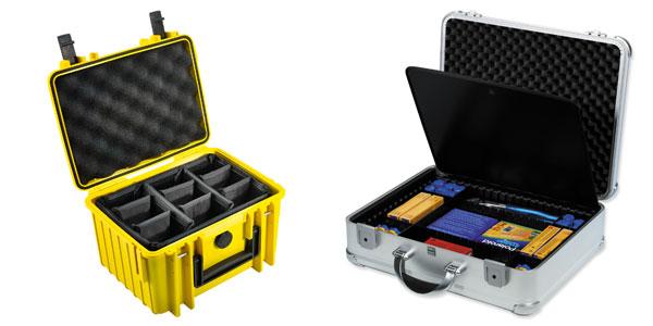 B&W Outdoor Case und bwh Koffer mit Facheinteilung