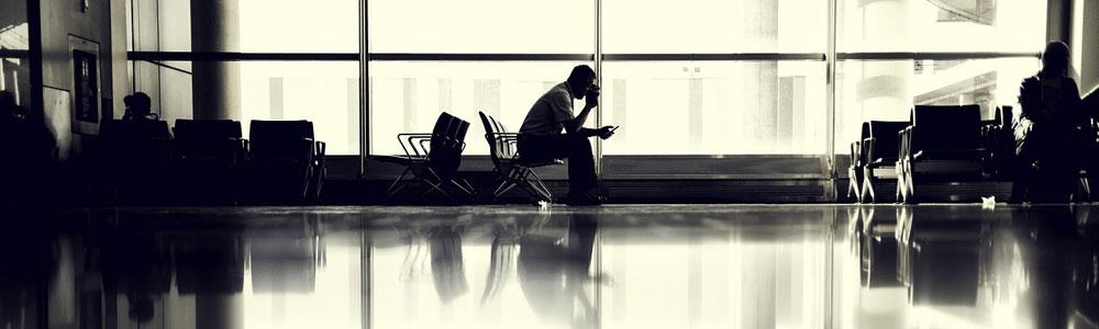 Koffer verloren auf dem Flughafen