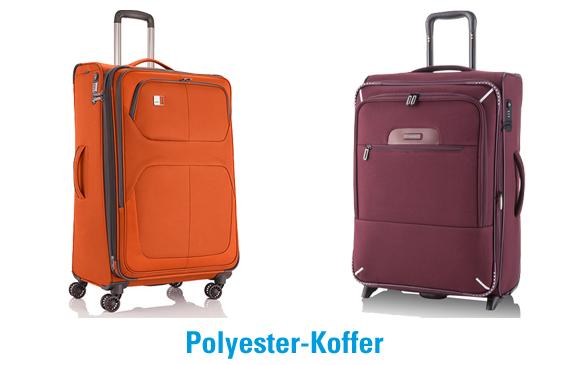 Beispiele für Polyester-Koffer