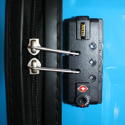 Integriertes TSA-Schloss bei einem Titan Trolley