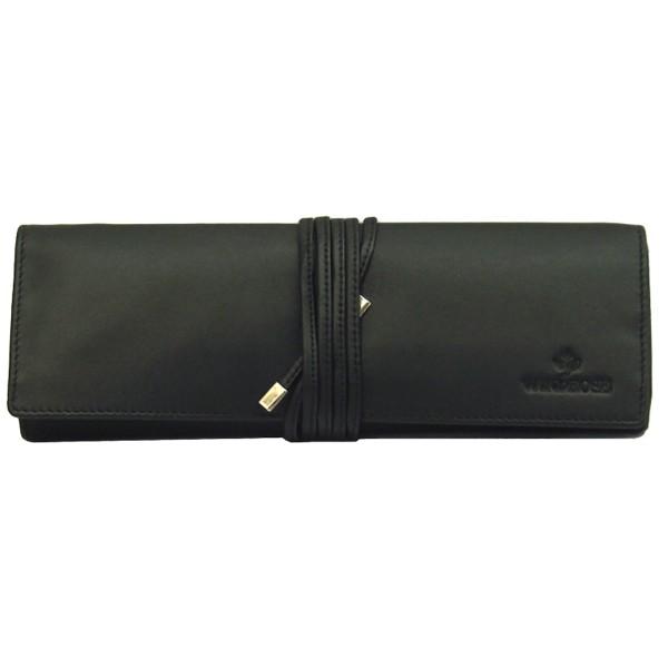 Windrose Nappa große Schmuckrolle aus Leder schwarz