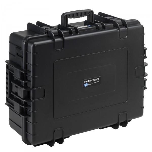 B&W Outdoor Case Typ 6500 schwarz - Vorderansicht