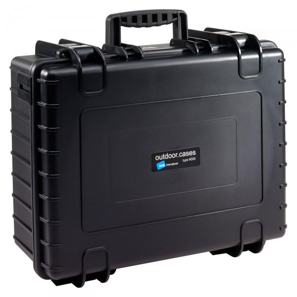 B&W Outdoor Case Typ 6000 schwarz - Vorderansicht