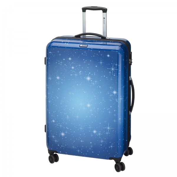 CHECK.IN Galaxy Trolley 69 cm 4 Rollen blau Frontansicht