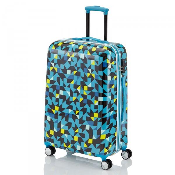 travelite Campus Quadro Trolley 68 cm 4 Rollen blau Schrägansicht