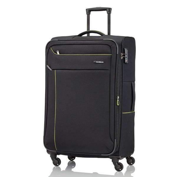 Travelite Solaris Trolley 77 cm 4 Rollen erweiterbar schwarz Frontansicht