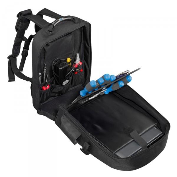 B&W Tec Bag Werkzeug-Rucksack Typ move mit Laptopfach - offen mit Werkzeug