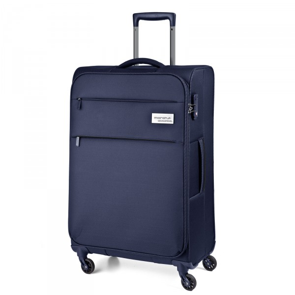 March15 Polo Trolley 67 cm 4 Rollen navy Schrägansicht