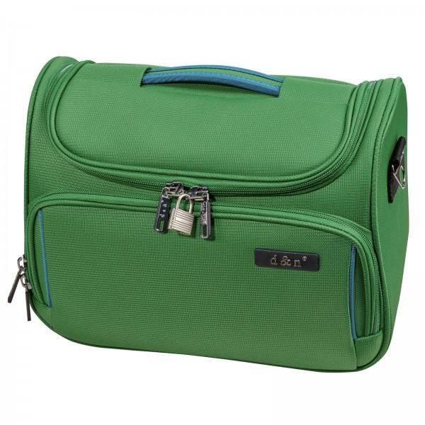 d&n Travel Line 7904 Beautycase 33 cm grün-petrol Frontansicht