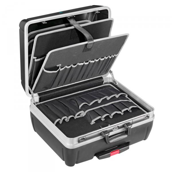 B&W Top Case Trolley-Werkzeugkoffer Typ rhino - mit POCKETS-Werkzeugtafel gefüllt