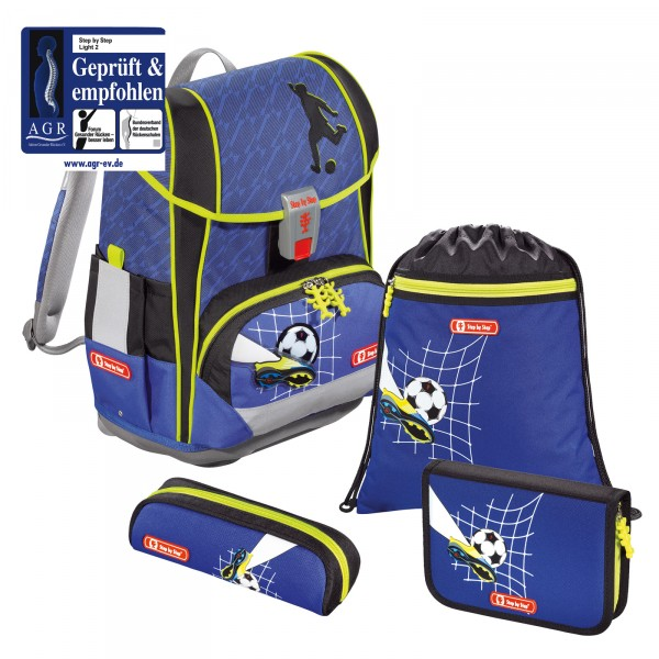 Step by Step Light 2 Schulranzen-Set 4-teilig Top Soccer