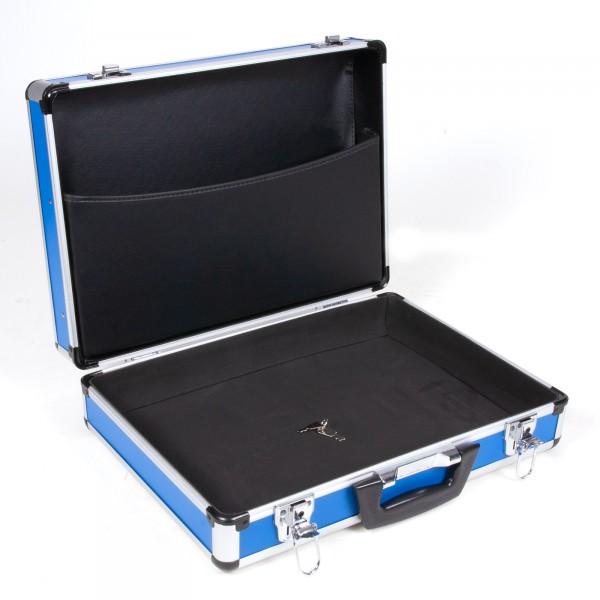 bwh Alumium-Rahmenkoffer Typ ARK FO inkl. Dokumenten-Deckeltasche B-Stock blau