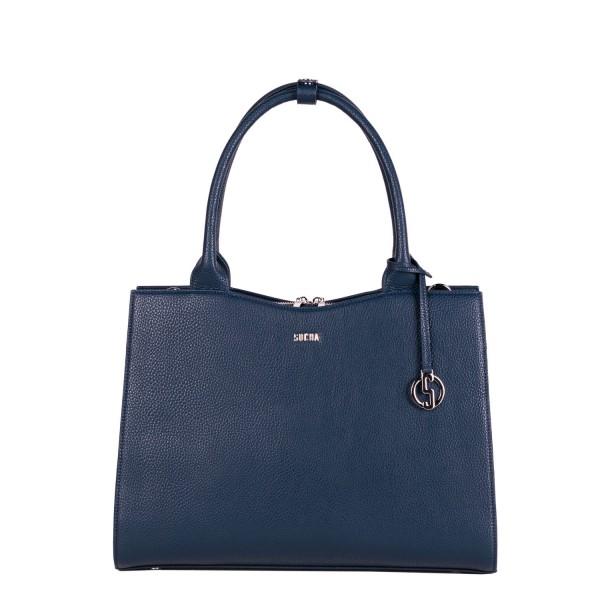 SOCHA Business-Handtasche Straight Line Midi 39 cm navy blue Frontansicht