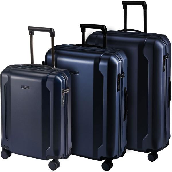 d&n Travel Line 8100 Trolley-Set 54/65/75 cm 4 Rollen blau