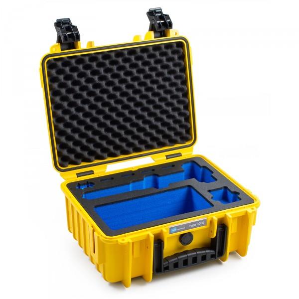 B&W GoPro Case Typ 3000 gelb für GoPro Karma Grip Front leer