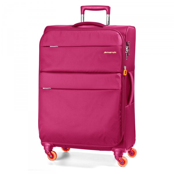 March15 Elle Trolley 77 cm 4 Rollen fuchsia - Frontansicht