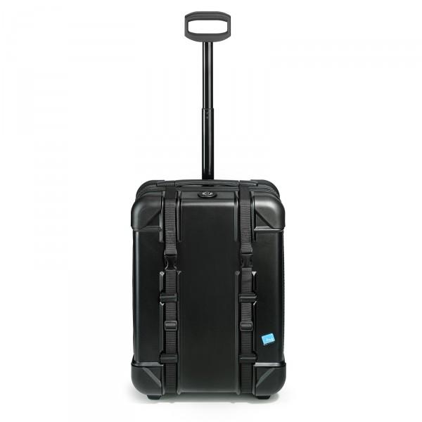 bwh Koffer Voyager Kabinentrolley 55 cm 2 Rollen schwarz - Frontansicht
