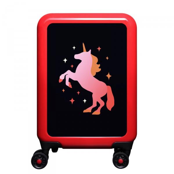 meinTrolley Einhorn 55cm 4 Rollen rot