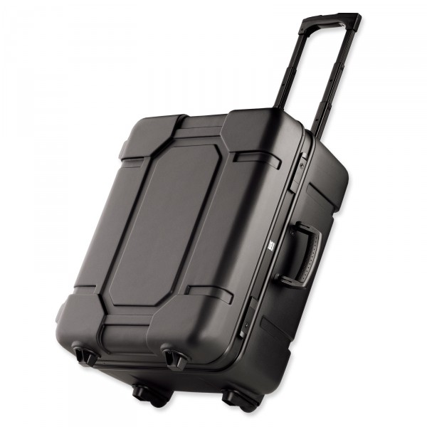 bwh Koffer Mobil-Teleskopic Transportkoffer schwarz 55 cm 2 Rollen - Vorderansicht