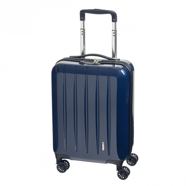 CHECK.IN London 2.0 Kabinentrolley 55 cm 4 Rollen blue Frontansicht