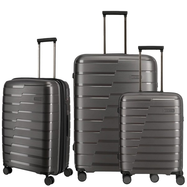 travelite Air Base Trolley Set 3-teilig anthrazit