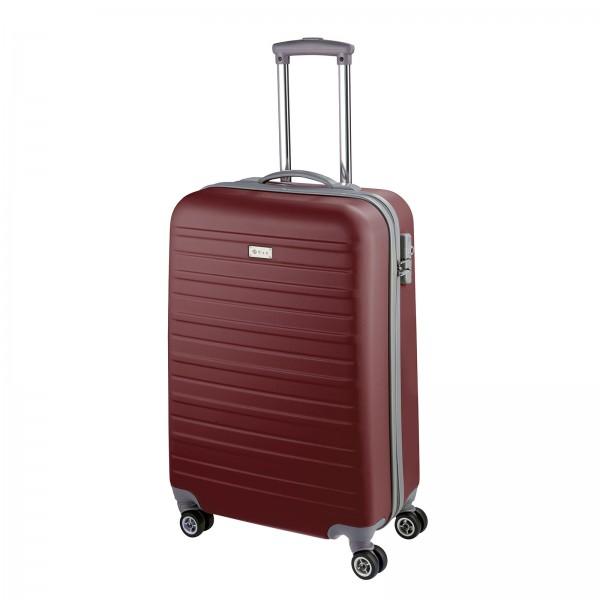 d&n Travel Line 9400 Kabinentrolley 54 cm 4 Rollen bordeaux Frontansicht