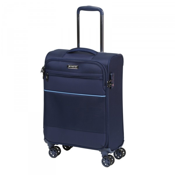 March15 Easy Kabinentrolley 55 cm 4 Rollen navy Frontansicht