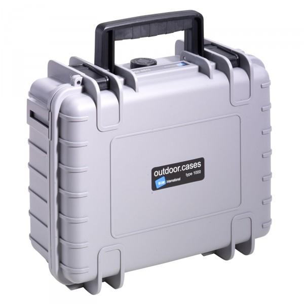 B&W Outdoor Case Typ 1000 grau - Vorderansicht