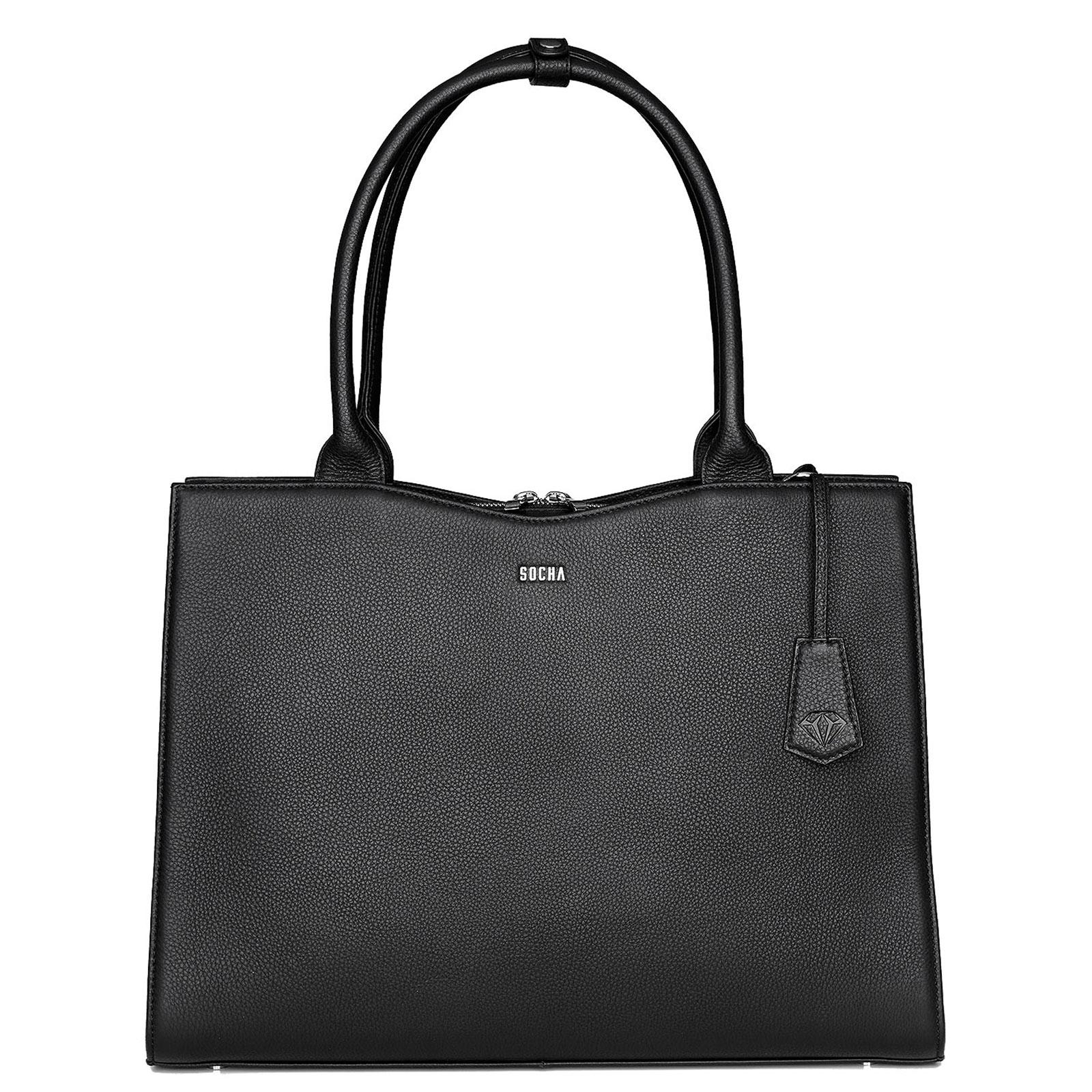 Aktentaschen SOCHA Diamond Bag Damen Handtasche 45 cm, Schwarz