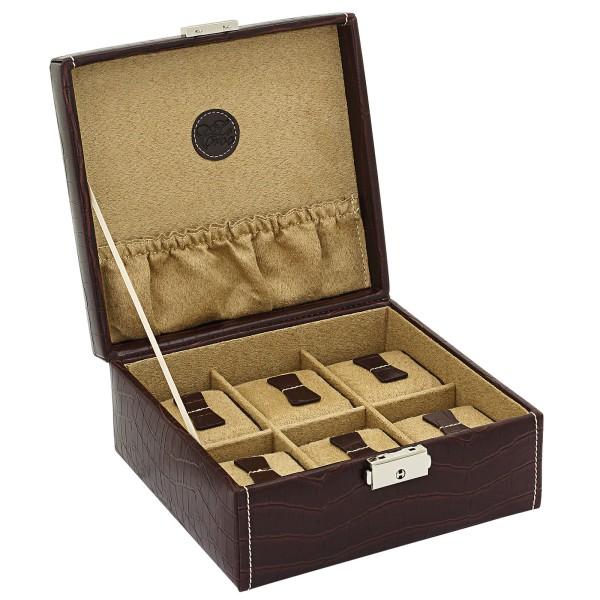 Friedrich|23 Le Croc Uhrenkoffer aus Feinsynthetik für 6 Uhren