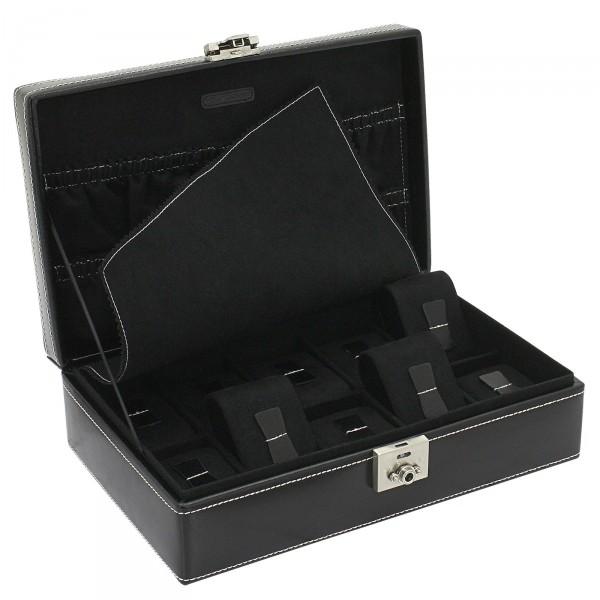 Friedrich|23 London Leder Uhrenkoffer für 10 Uhren