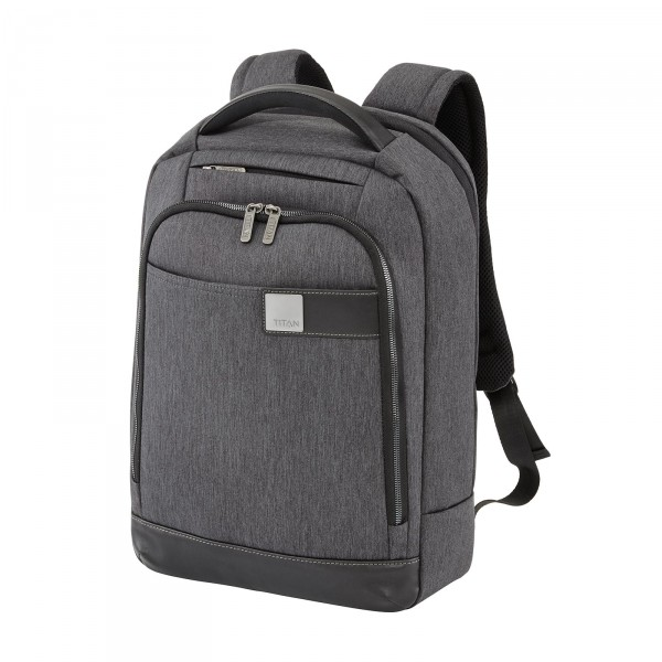 TITAN Power Pack Rucksack 33 cm extraschmal Mixed Grey
