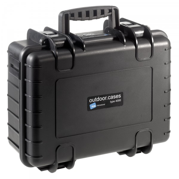 B&W Outdoor Case Typ 4000 schwarz - Vorderansicht