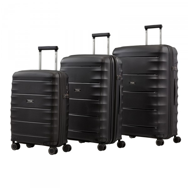 TITAN Highlight Trolley Set 3-teilig Black