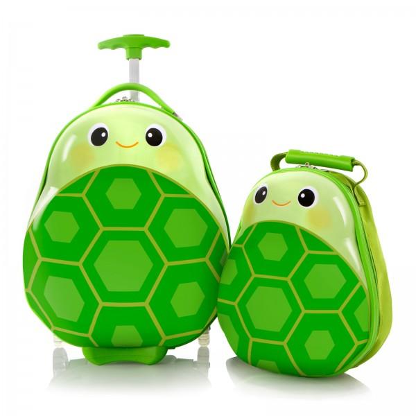 Heys Kids Travel Tots Kindertrolley 46 cm 2 Rollen mit Rucksack Turtle Frontansicht