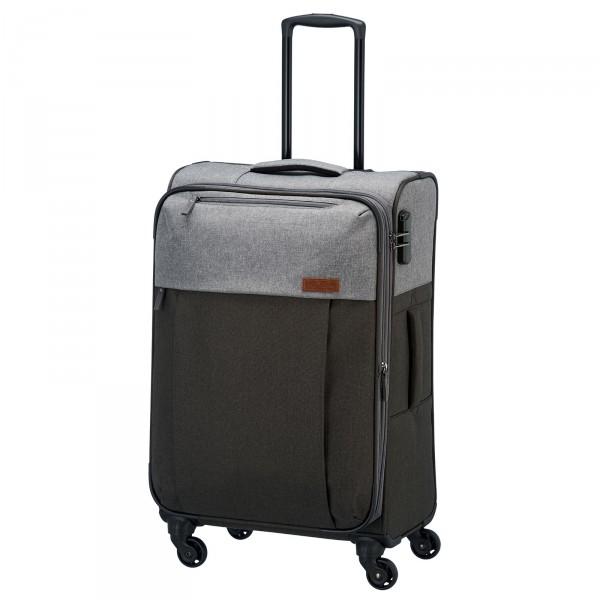 travelite Neopak Trolley 67 cm 4 Rollen erweiterbar anthrazit/grau Schrägansicht