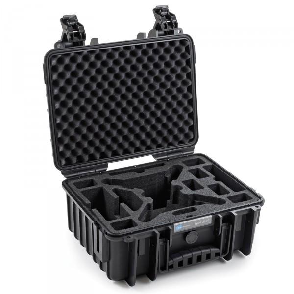 B&W Outdoor Case Typ 1000 Schwarz für Yuneec Breeze Front