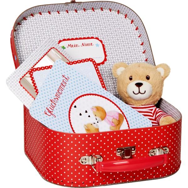 Spiegelburg Baby Glück Geschenkset Teddy im Köfferchen Baby Glück