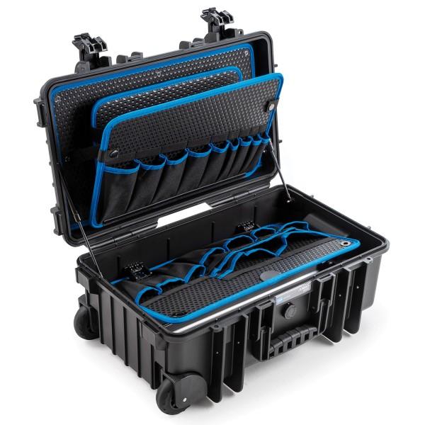 B&W JUMBO 6600 Werkzeugkoffer POCKETS 2 Rollen mit Gasfeder black