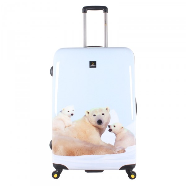 National Geographic Polar Bear Trolley 78 cm 4 Rollen - Frontansicht