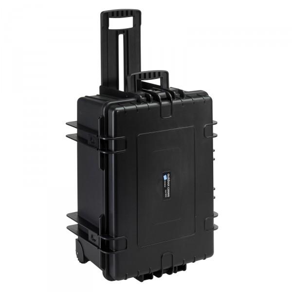 B&W Outdoor Case Typ 6800 2 Rollen schwarz - Vorderansicht