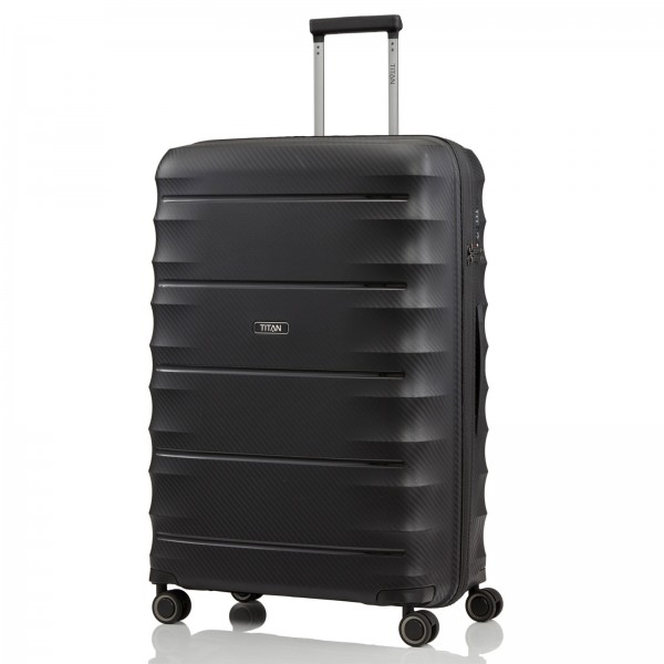 TITAN Highlight Trolley 76 cm 4 Rollen black Schrägansicht