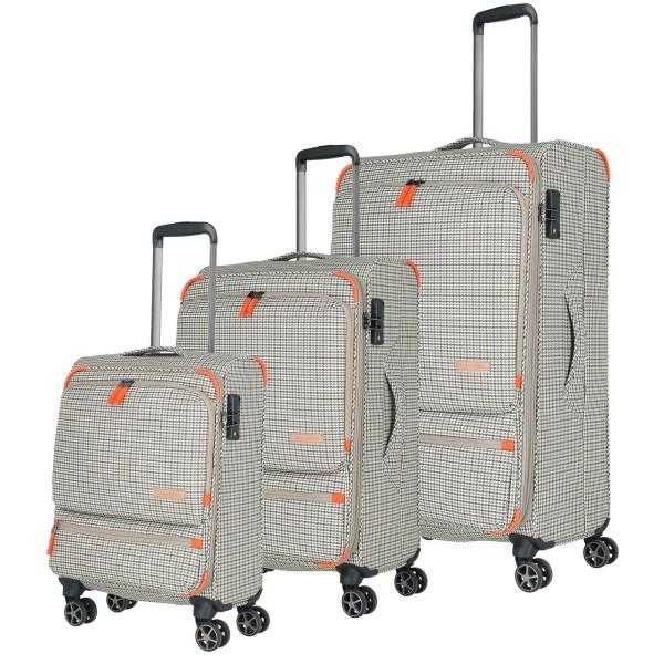 travelite Checkline Trolley Set 54/67/78 cm 4 Rollen kariert