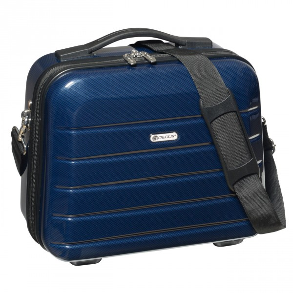 CHECK.IN London 2.0 Beautycase 33 cm blue Frontansicht