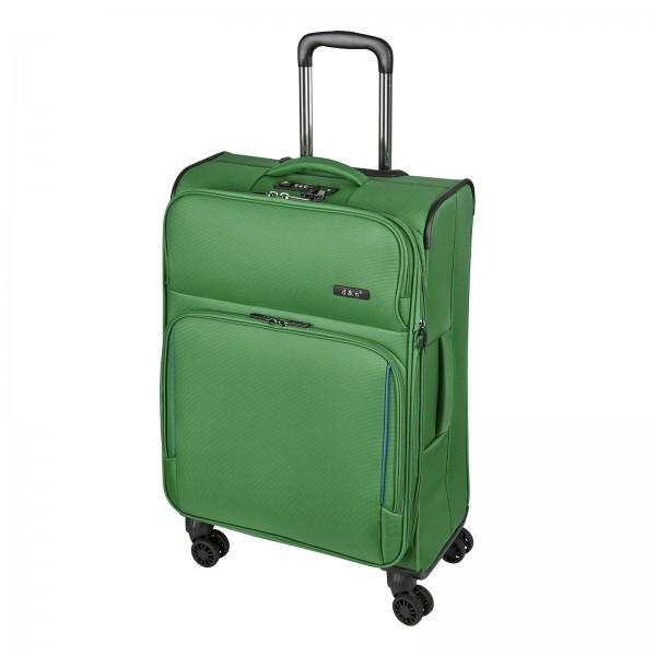 d&n Travel Line 7904 Trolley 66 cm 4 Rollen erweiterbar grün-petrol