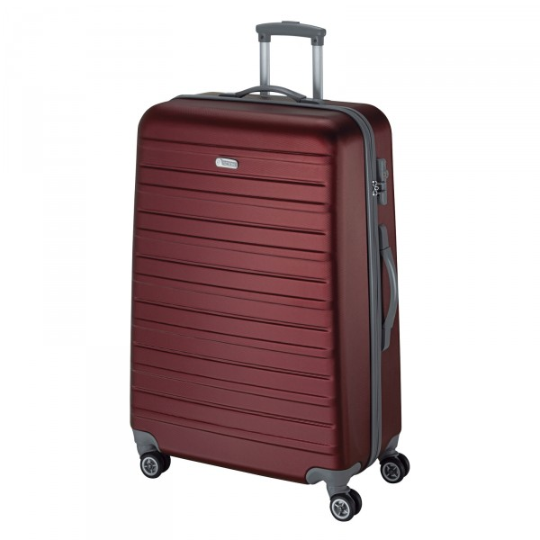 d&n Travel Line 9402 Trolley 66 cm 4 Rollen bordeaux - Frontansicht