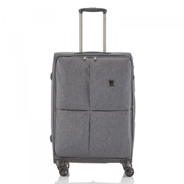 TITAN Square Trolley 68 cm 4 Rollen anthracite - Frontansicht