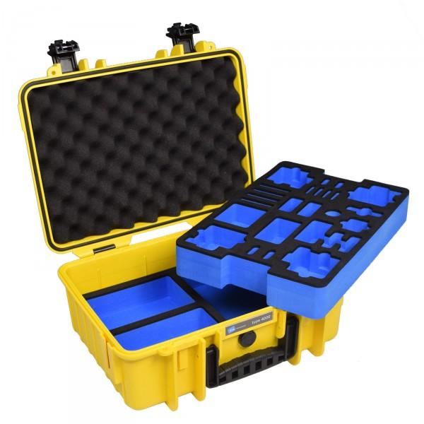 B&W GoPro Case Typ 4000 gelb mit Schaumstoffeinsatz für GoPro HERO4 - Frontansicht