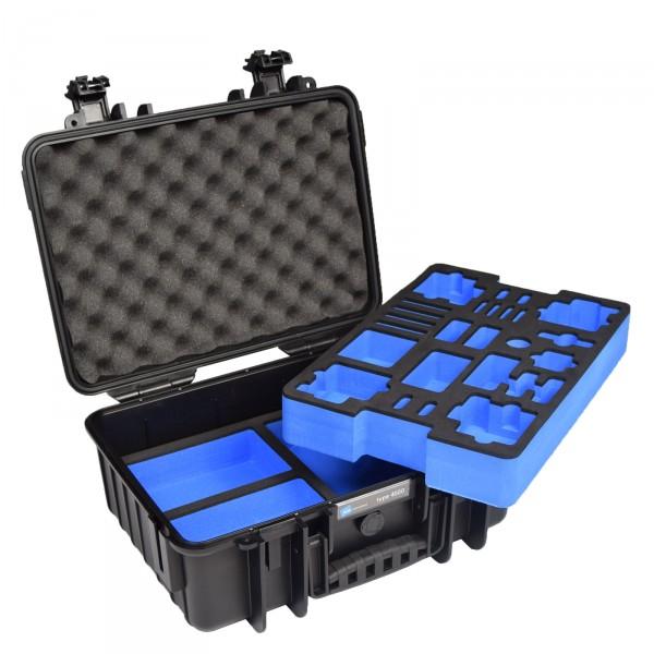 B&W GoPro Case Typ 4000 schwarz mit Schaumstoffeinsatz für GoPro HERO4 - Frontansicht