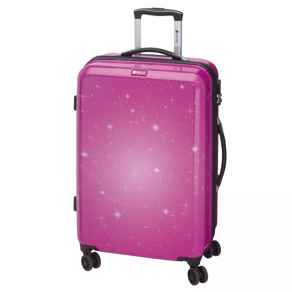 CHECK.IN Galaxy Trolley 77 cm 4 Rollen pink Frontansicht